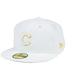 New Era Chicago Cubs White On Metallic 59FIFTY Cap