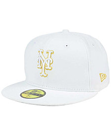 New Era New York Mets White On Metallic 59FIFTY Cap
