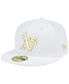 New Era Oakland Athletics White On Metallic 59FIFTY Cap