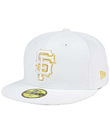 New Era San Francisco Giants White On Metallic 59FIFTY Cap