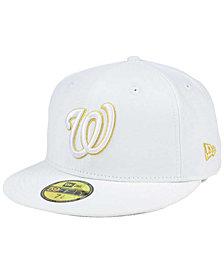 New Era Washington Nationals White On Metallic 59FIFTY Cap