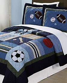 All State Reversible 3-Pc. Full/Queen Quilt Set