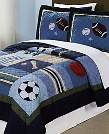 Laura Hart Kids All State Reversible 3-Pc. Full/Queen Quilt Set