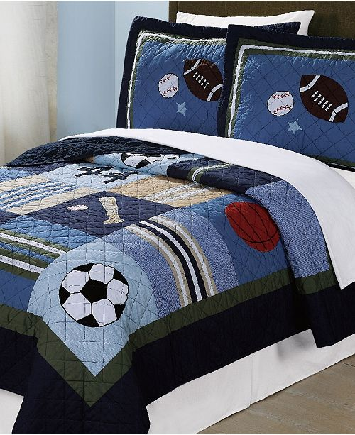 My World All State Reversible 2-Pc. Twin Quilt Set