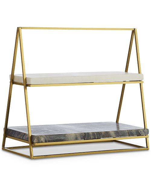 Hotel Collection 2-Tier Marble Server, Created for Macy's
