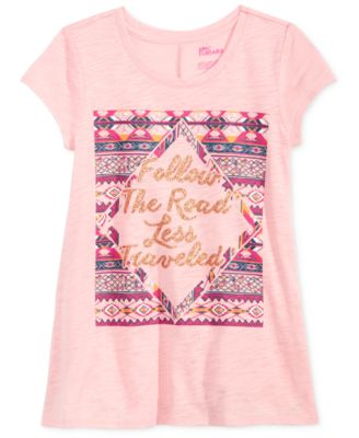 Image of Epic Threads Follow The Road Less Traveled T-Shirt, Big Girls (7-16), Created for Macy's