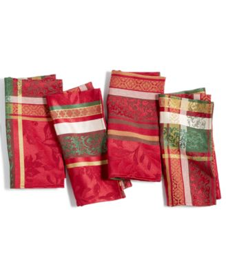 Holly Time Napkins, Set Of 4