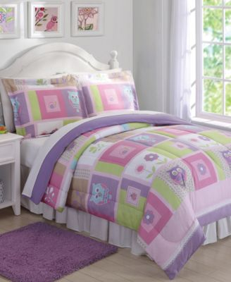 Happy Owls Reversible 3-Pc. Full/Queen Comforter Set
