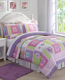 Laura Hart Kids Happy Owls Reversible 3-Pc. Full/Queen Comforter Set