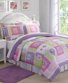 My World Happy Owls Reversible 2-Pc. Twin Comforter Set
