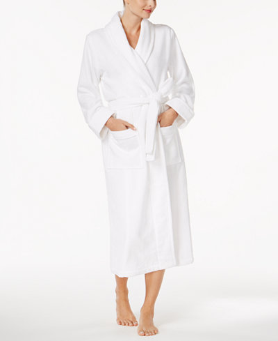 Charter Club Luxe Cotton Terry Long Wrap Robe, Created for Macy's