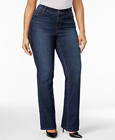 Plus Size Tummy-Control Bootcut Jeans, Created for Macy's