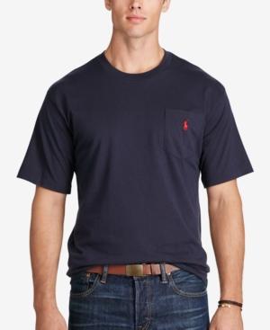 Polo Ralph Lauren Men's Big & Tall Crew-Neck Pocket T-Shirt