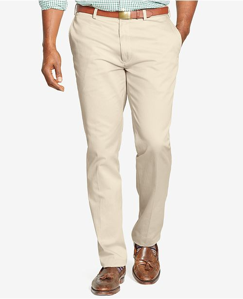 a7618ebaf2 Polo Ralph Lauren Men's Big and Tall Pants, Suffield Classic-Fit Flat-Front