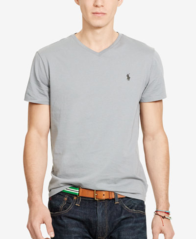 Polo Ralph Lauren Men's Core Medium-Fit V-Neck Cotton Jersey T ...
