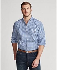 Men's Big & Tall Classic Fit Plaid Oxford Shirt