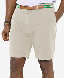 "Polo Ralph Lauren Men's Big and Tall 9"" Classic-Fit Flat-Front Suffield Shorts"