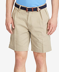 "Polo Ralph Lauren Men's Core 9"" Classic-Fit Pleated Chino Shorts"