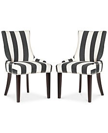 Lester Awning Stripes Dining Chair (Set Of 2), Quick Ship