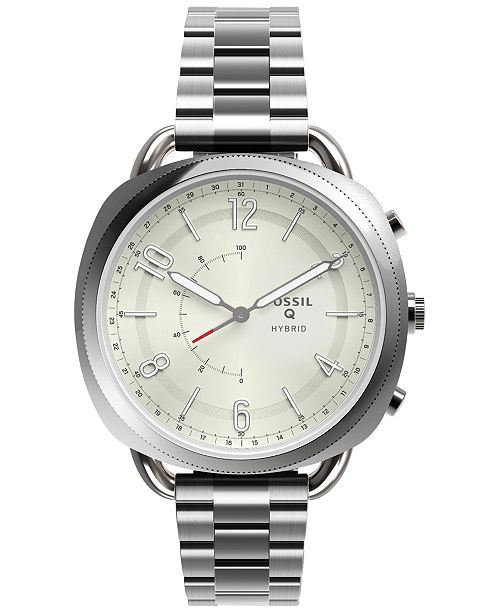 Fossil Q Women's Accomplice Stainless Steel Bracelet Hybrid Smart Watch 38x40mm