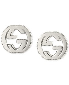 Gucci Interlocking Logo Stud Earrings in Sterling Silver