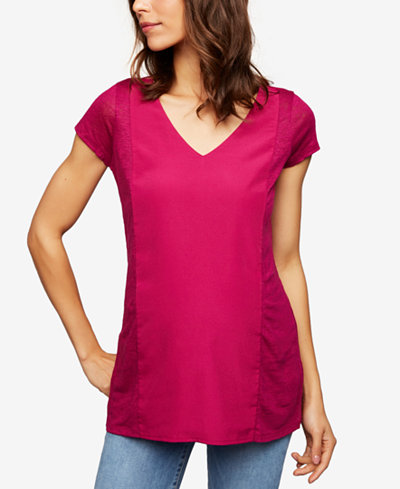 A Pea In The Pod Maternity Linen T-Shirt
