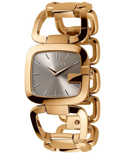 6cd6a0bb16c ... Gucci Women s Swiss G-Gucci Gold-Tone PVD Stainless Steel Bracelet Watch  32x30mm YA125408 ...