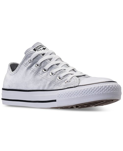 ... Converse Women s Chuck Taylor Ox Velvet Casual Sneakers from Finish ... 945b6c9fb