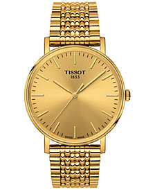 Tissot Men's Swiss Everytime Gold-Tone Stainless Steel Bracelet Watch 38mm