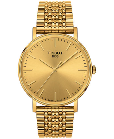 Tissot Men's Swiss Everytime Gold-Tone Stainless Steel ...