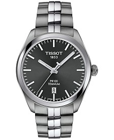 Tissot Men's Swiss PR100 Titanium Bracelet Watch 39mm