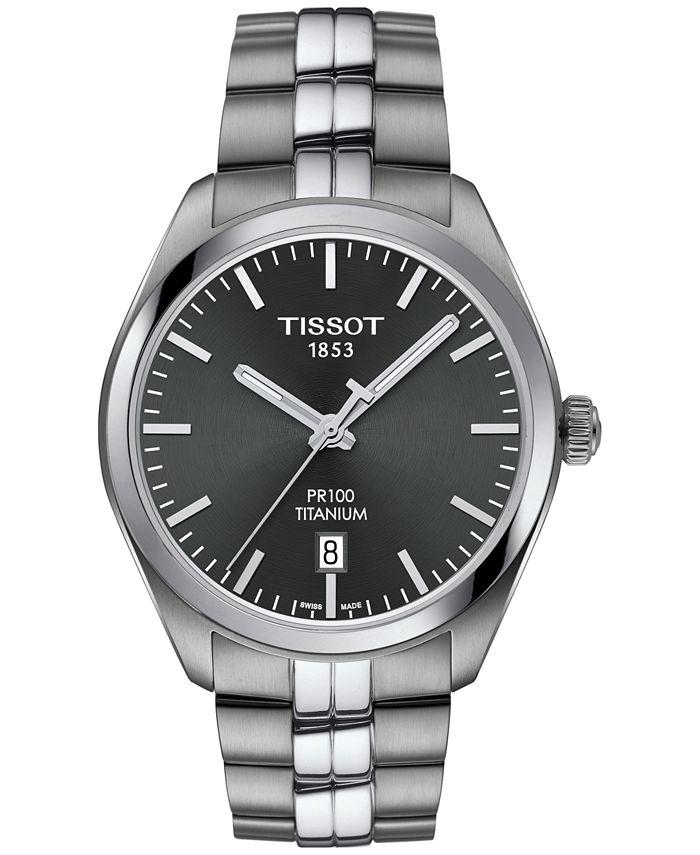 Tissot - Men's Swiss PR100 Titanium Bracelet Watch 39mm
