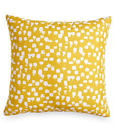 "Scribble Brushstroke Dot 18"" Square Decorative Pillow"