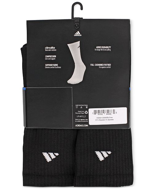 6cba56b4b2f01 adidas Men's Cushioned Athletic 6-Pack Crew Socks & Reviews - Socks ...