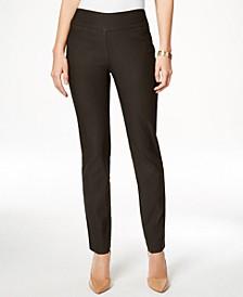 Petite Cambridge Tummy-Control Slim-Leg Pants, Created for Macy's
