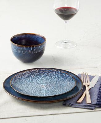 Matisse Round Blue 16-Pc. Dinnerware Set