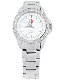 Jack Mason Women's Indiana Hoosiers Glitz Sport Bracelet Watch
