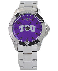 Jack Mason Men's TCU Horned Frogs Color Sport Bracelet Watch