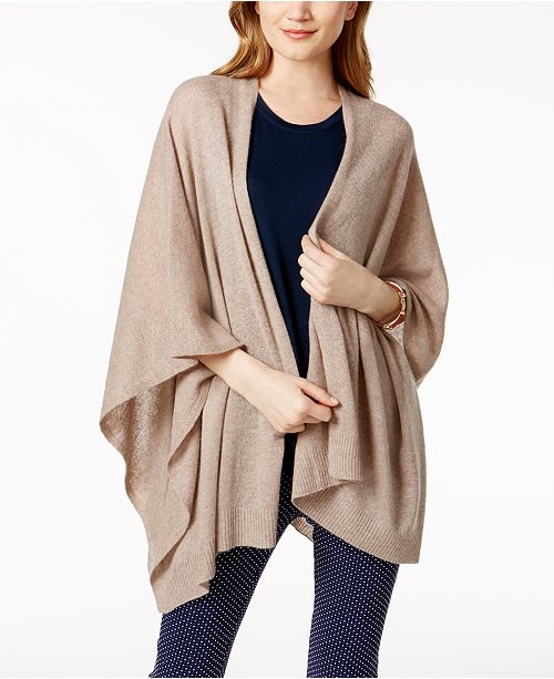 835f7ce371cafe Charter Club Cashmere Wrap, Created for Macy's & Reviews - Sweaters ...