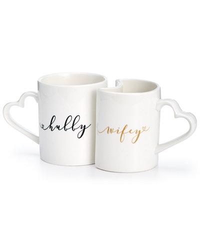 Cathy's Concepts Hubby & Wifey Mug Set