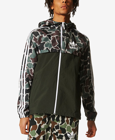 adidas originals men 39 s camo windbreaker coats jackets. Black Bedroom Furniture Sets. Home Design Ideas