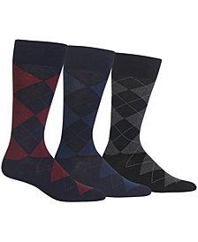 Ralph Lauren Men's Socks, Dress Argyle Crew 3 Pack Socks