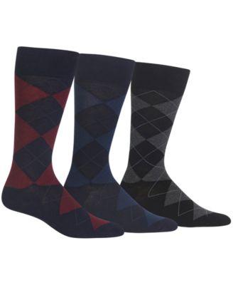 Ralph Lauren Mens Socks Dress Argyle Crew  Pack Socks
