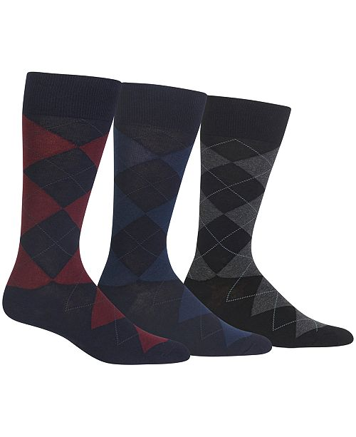 fa0bd7699cdd Polo Ralph Lauren Ralph Lauren Men's Socks, Dress Argyle Crew 3 Pack Socks
