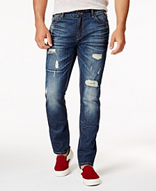 Men's Ripped Stretch Jeans, Created for Macy's