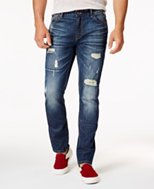 American Rag Men's Ripped Stretch Jeans, Created for Macy's