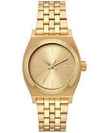 Women's Medium Time Teller Stainless Steel Bracelet Watch 31mm