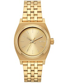 Nixon Women's Medium Time Teller Stainless Steel Bracelet Watch 31mm