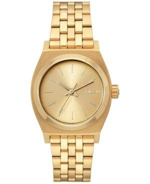 NIXON Women'S Medium Time Teller Stainless Steel Bracelet Watch 31Mm A1130 in Gold