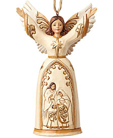 Jim Shore Ivory & Gold Nativity Angel Ornament